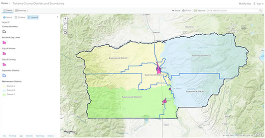 Tehama County Districts and Boundaries