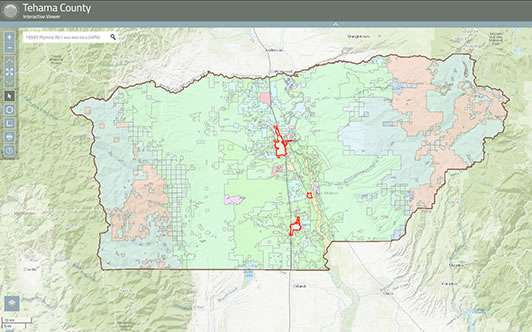 Tehama County Secured Regional Interactive Map Viewer